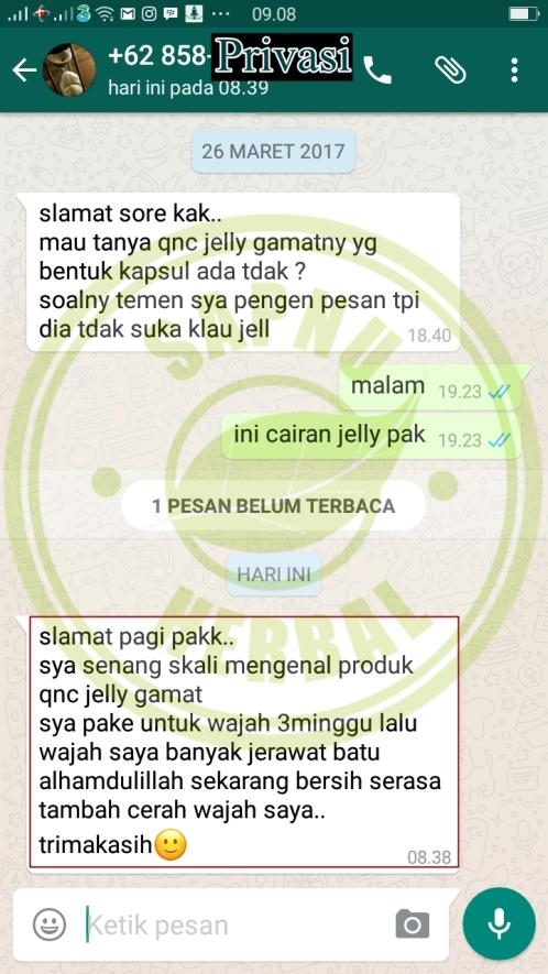 Testimoni QnC Jelly Gamat Jerawat 4